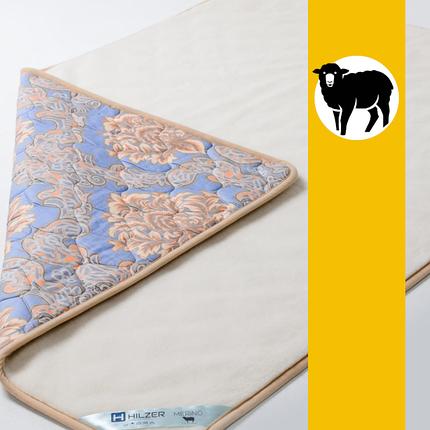 Ковдра з овечої вовни породи Меринос та Сатину Hilzer 100х140 см, фото 2