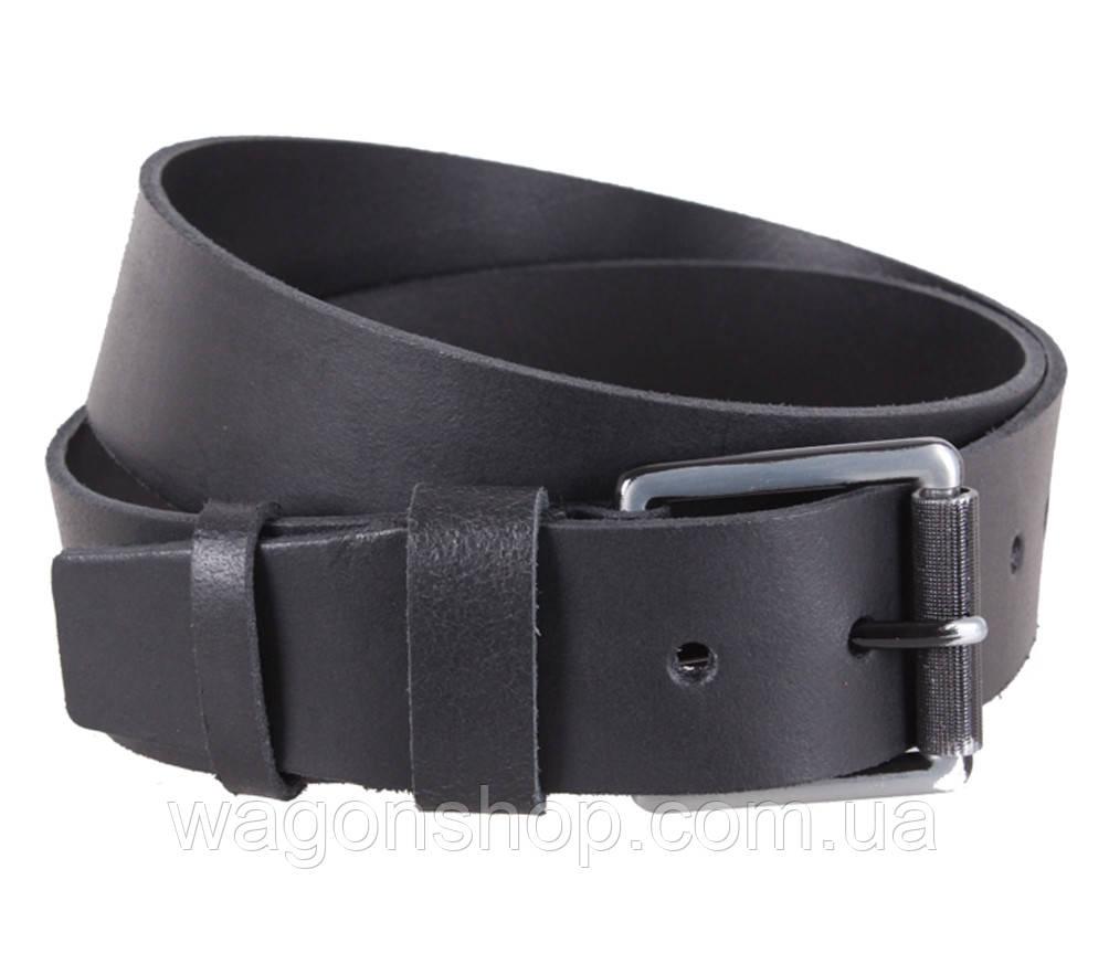 Мужской кожаный ремень Dovhani SP999-26 115-125 см Черный