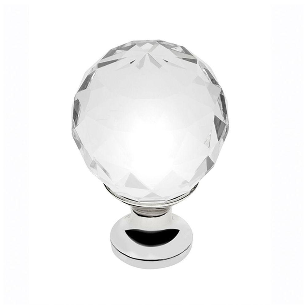 Ручка меблева GTV Crystal Palace D=30 мм Хром/Кристал (GZ-CRPA30-01)