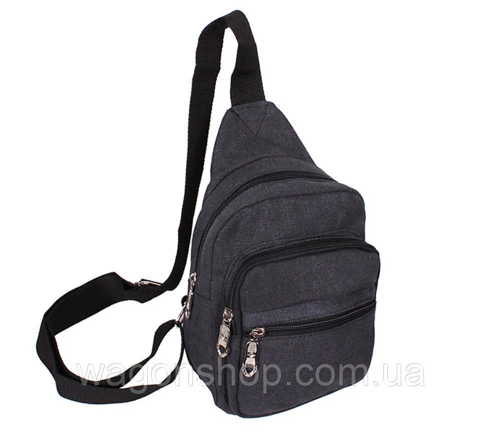 Сумка мини-рюкзак мужская 01BLACK Черная