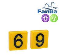 """Блок цифровой """"6"""" (45*45 мм) к ошейнику для идентификации животных FARMA (Нидерланды)"""