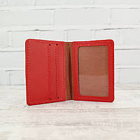 Кардхолдер Mihey cardholder красный из натуральной кожи kapri 1120108
