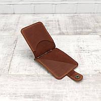 Зажим для купюр Mihey clip коньячный из натуральной кожи crazy horse 1140105