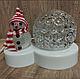 Светодиодный ночник, диско шар снеговик, фото 5