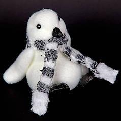 Новогодний декор Пингвин с шарфиком, 13 см