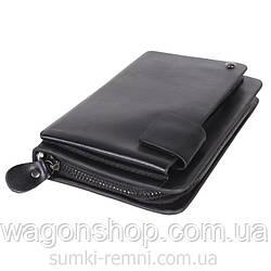 Класичний чоловічий клатч чорного кольору 300851
