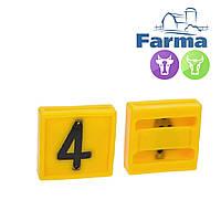 """Блок цифровой """"4"""" (45*45 мм) к ошейнику для идентификации животных FARMA (Нидерланды)"""