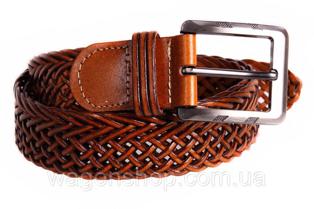 Чоловічий плетений ремінь для класичних брюк