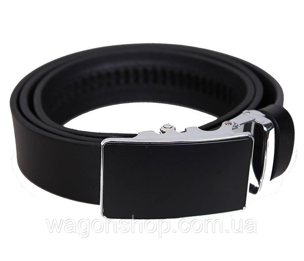 Мужской кожаный ремень Dovhani UK888-88 115-125 см Черный