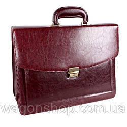 Чоловічий портфель темно-коричневого кольору