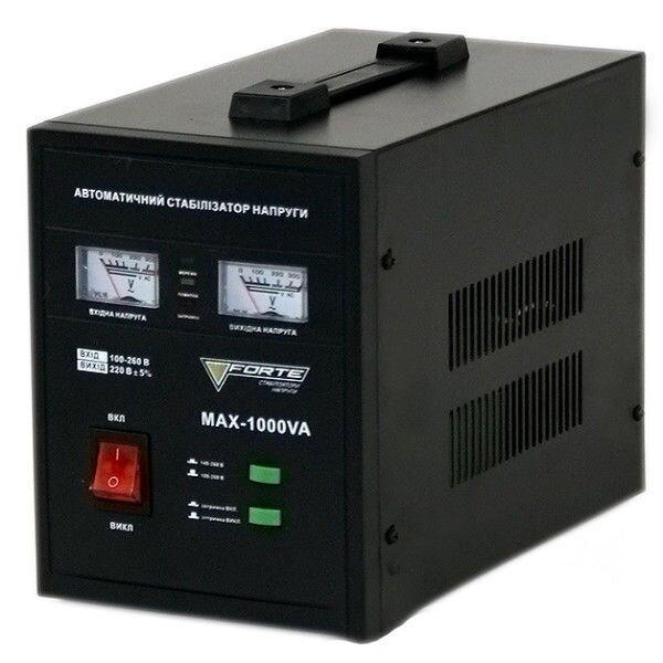 Стабилизатор релейный 1,0 кВт 1Ф Forte MAX-1000VA NEW