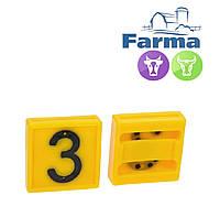 """Блок цифровой """"3"""" (45*45 мм) к ошейнику для идентификации животных FARMA (Нидерланды)"""