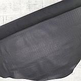 Кожа алтея  с оттиском кайман черная, фото 2