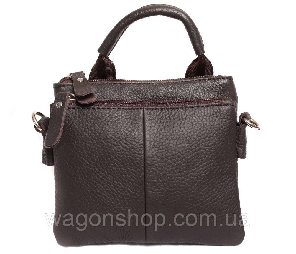 Мужская кожаная сумка с одной ручкой 300144
