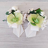 Бутоньерки на свадьбу свидетелю и свидетельнице (пара), фото 1