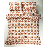 Постельное белье Lotus Ranforce - Bouquet коралловый евро