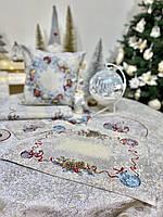 """Салфетка новогодняя гобеленовая """"Морозко"""" (с серебристой люрексовой ниткой), фото 1"""