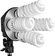 360/1800Вт Набір постійного світла LD 5070-4 (софтбокси 50х70см на 4 лампи) Double Kit, фото 2