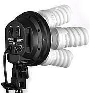 360/1800Вт Набір постійного світла LD 5070-4 (софтбокси 50х70см на 4 лампи) Double Kit, фото 3