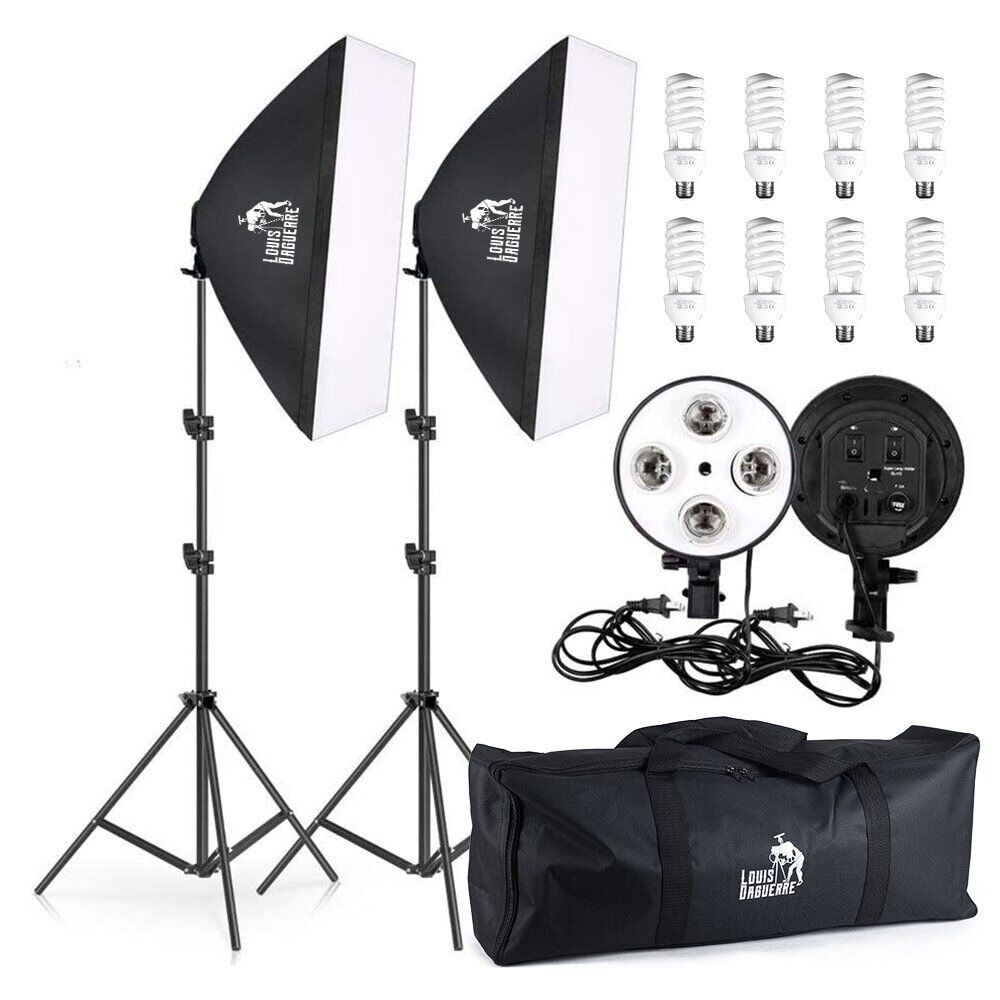 360/1800Вт Набір постійного світла LD 5070-4 (софтбокси 50х70см на 4 лампи) Double Kit
