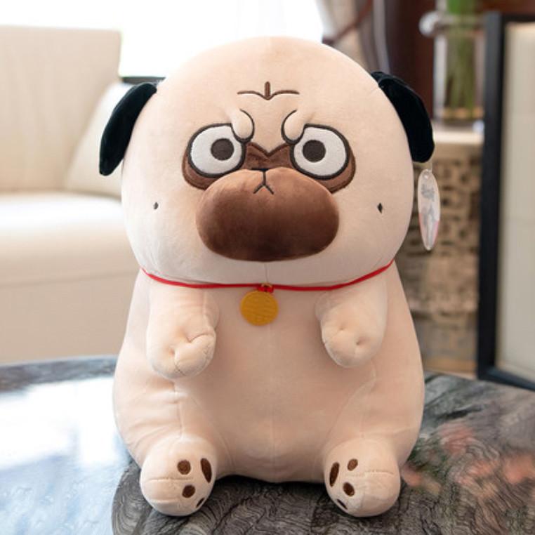 Мягкая игрушка мопс плюшевая антистресс
