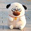 Мягкая игрушка мопс плюшевая антистресс, фото 5