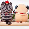 Мягкая игрушка мопс плюшевая антистресс, фото 3
