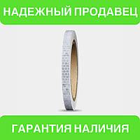 Универсальная светоотражающая самоклеющаяся лента для контурной маркировки транспорта (белый цвет) 1 м