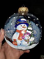Ёлочные игрушки новогодние шары 2021 Новый Год d 100mm 1шт Шар Новогодний, фото 1