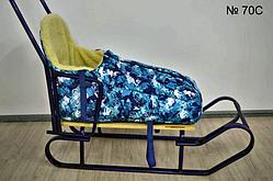 Меховой чехол с расцветкой в сине-голубых тонах
