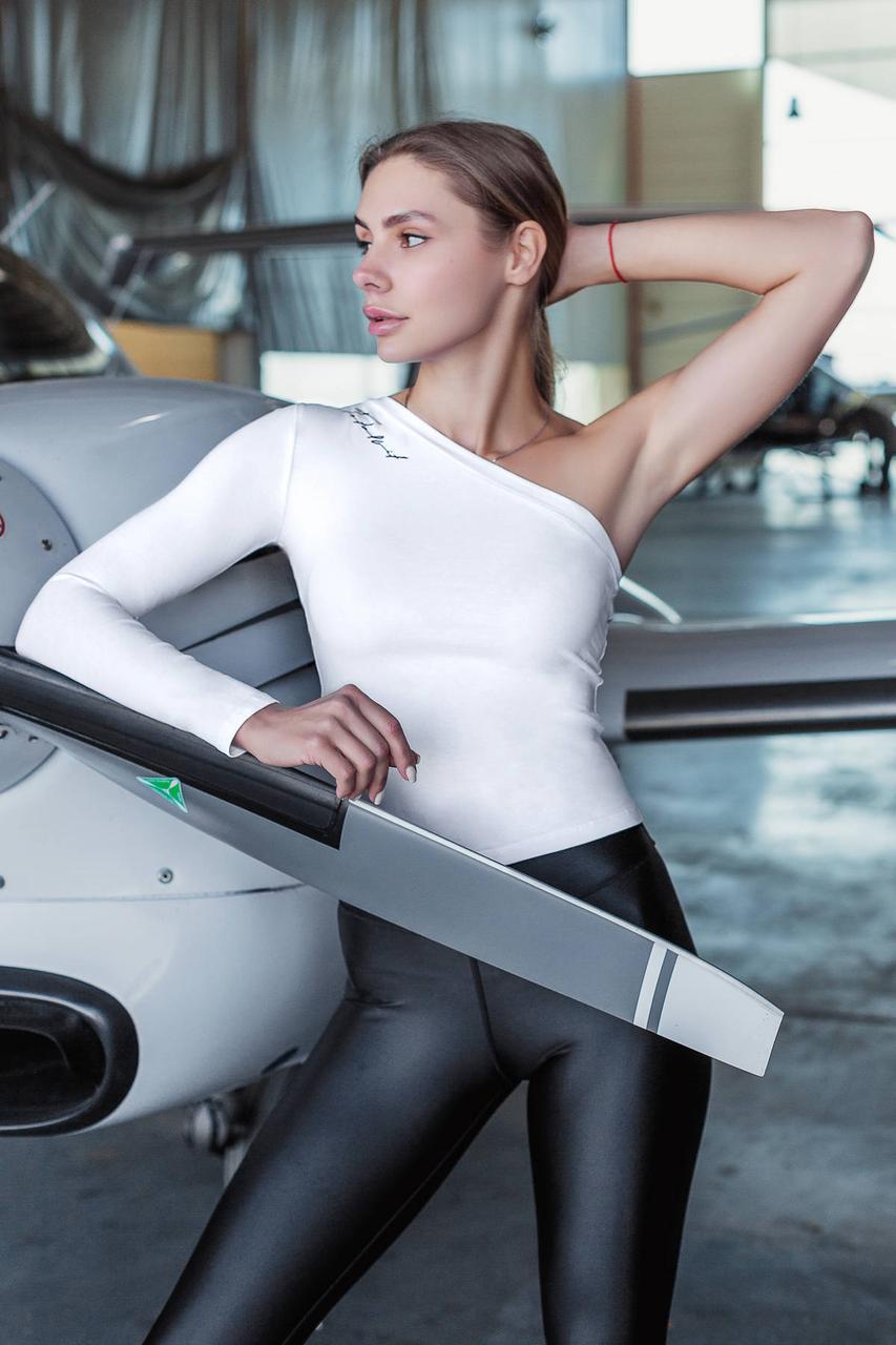 Жіночий рашгард на одну руку Totalfit RWK91-C11 XS Білий