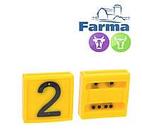 """Блок цифровой """"2"""" (45*45 мм) к ошейнику для идентификации животных FARMA (Нидерланды)"""