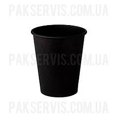 Стакани паперовий TOTAL BLACK 175мл, 50шт. 1/48