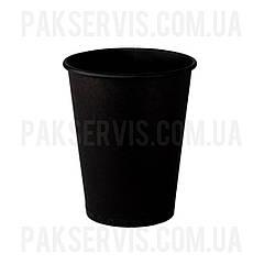 Стакани паперовий TOTAL BLACK 250мл, 50шт. 1/40