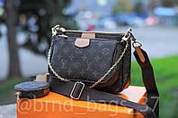 Женская кожаная сумка клатч Louis Vuitton