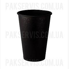 Стакани паперовий TOTAL BLACK 340мл, 50шт. 1/35