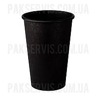 Стаканы бумажный TOTAL BLACK 500мл, 50шт. 1/20