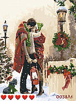 Картина по номерам Счастливая пара в канун празника, цветной холст, 40*50 см, без коробки, ТМ Barvi+ ЛАК