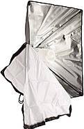 1300Вт Набор постоянного света LD 5070-1 (софтбоксы 50x70см на 1 лампу) Double Kit, фото 9