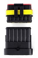 Водонепроницаемый разъем и гнездо 6pin для соединения проводов IP68 клемы, фото 1
