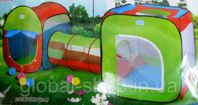 Детская игровая палатка 2 палатки в 1+проход!