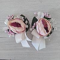 Бутоньерки на свадьбу свидетелю и свидетельнице (пара)