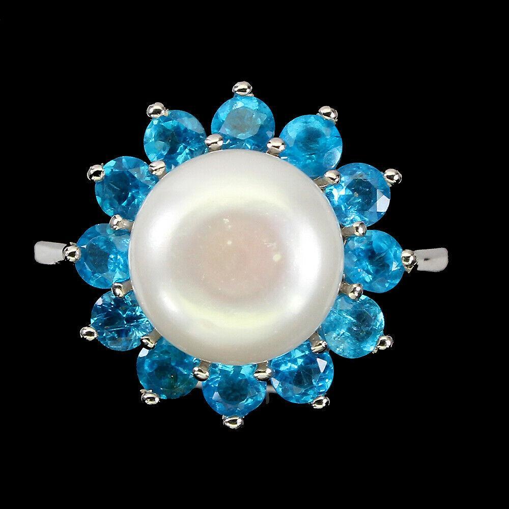 Срібне кільце з перлами розмір 18.5
