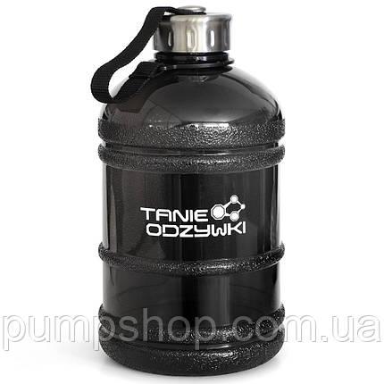 Бутылка питьевая Tanie odzywki 1.9 л черная, фото 2