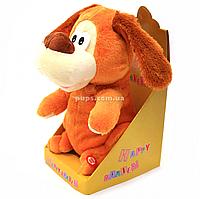 Мягкая игрушка интерактивная музыкальная собака Happy Garden 28*15*10 см (6934354321419)