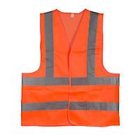 Жилет сигнальный оранжевый XXL (62*70см), 120 гр/м2 INTERTOOL SP-2030