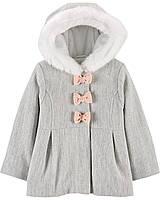 Пальто для дівчинки Carter ' s сіре з капюшоном (глибока осінь) 2Т/86-93 см