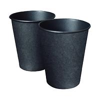 Паперовий стакан 250 (280) мл Євро, одношаровий, кольору Black, 50 шт./рукав (арт.0066)