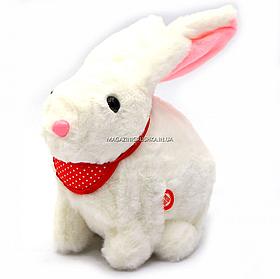 Мягкая игрушка интерактивная музыкальный кролик белый, уши светятся 20х10х20 см (M142)