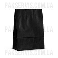 Паперовий пакет з дном TOTAL BLACK 280х210х110мм 200шт.
